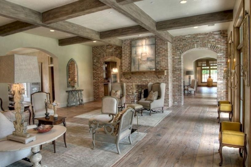 Pretty French Country Living Room Design Ideas04