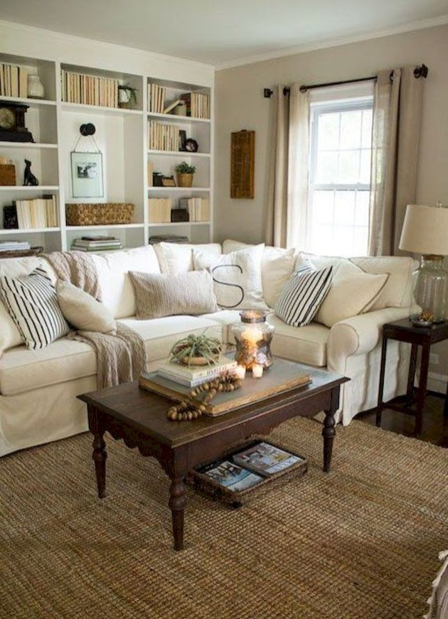 Pretty French Country Living Room Design Ideas09
