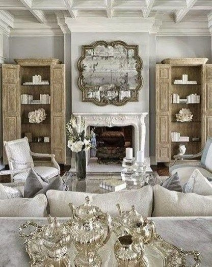 Pretty French Country Living Room Design Ideas12