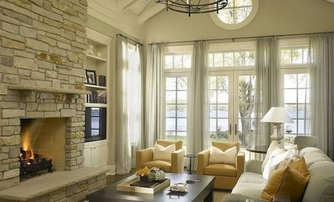 Pretty French Country Living Room Design Ideas15