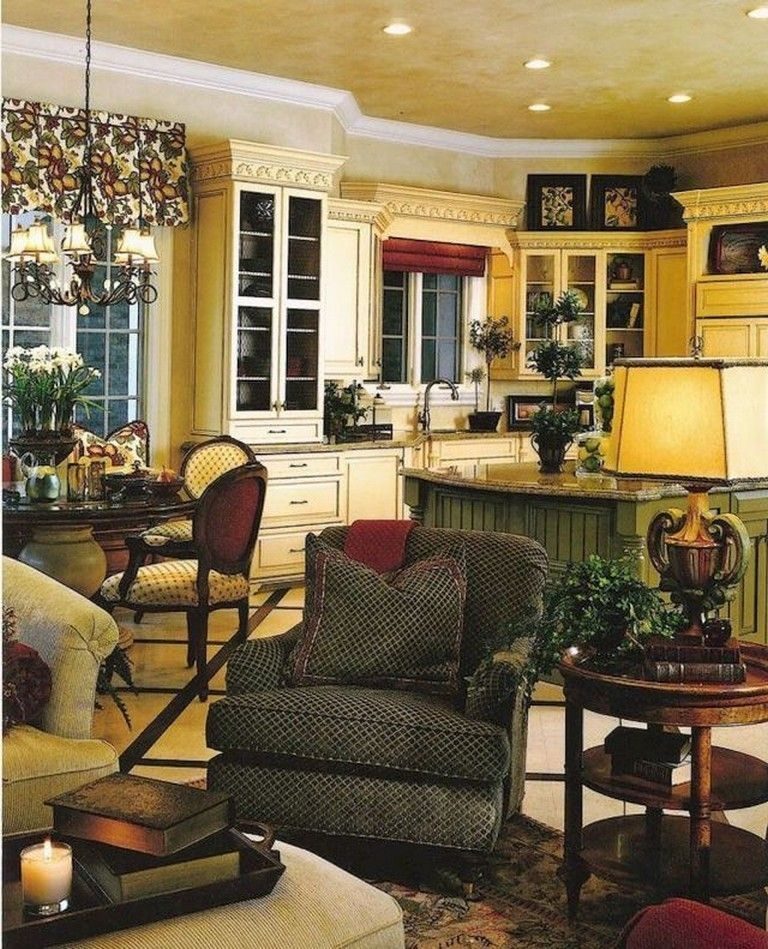 Pretty French Country Living Room Design Ideas17
