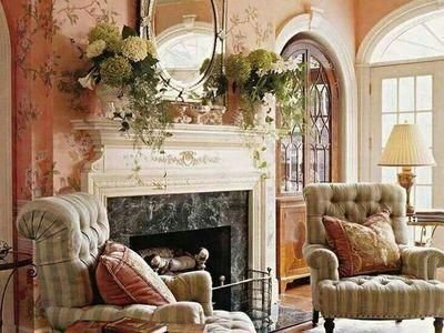 Pretty French Country Living Room Design Ideas36