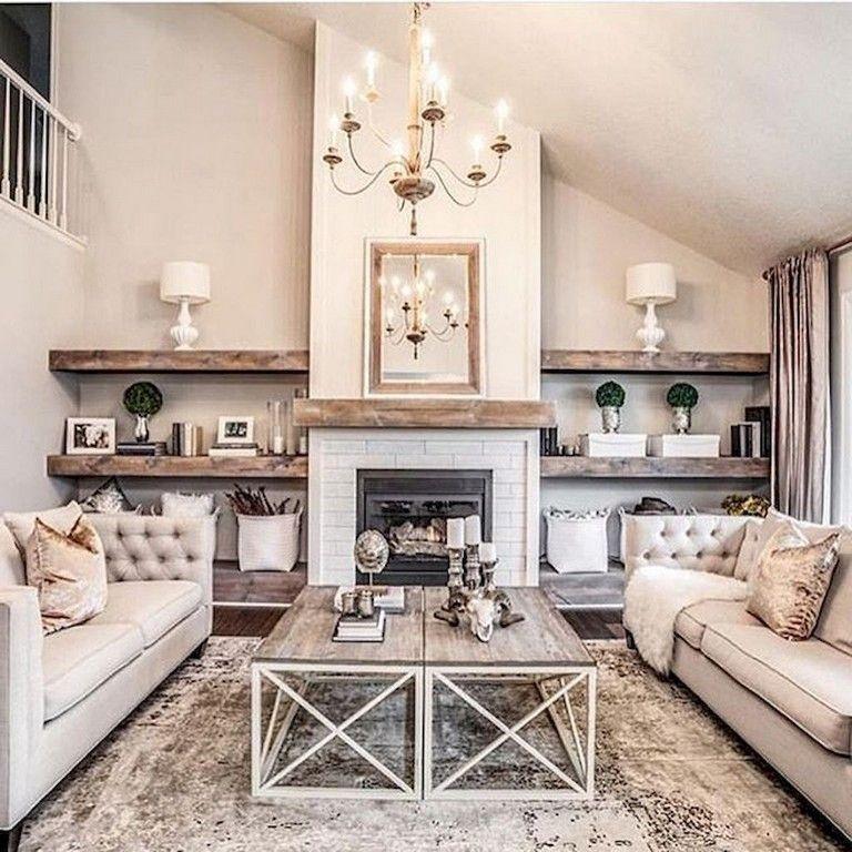 Smart Farmhouse Living Room Design Ideas23