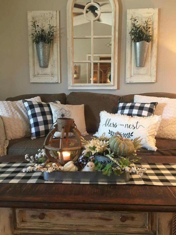 Smart Farmhouse Living Room Design Ideas28