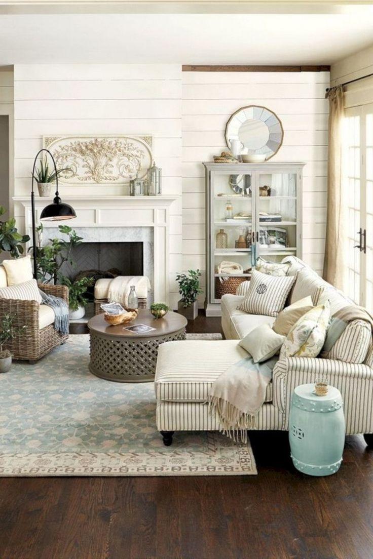 Smart Farmhouse Living Room Design Ideas34