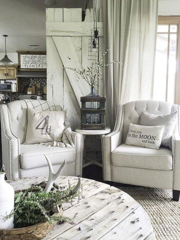 Smart Farmhouse Living Room Design Ideas38