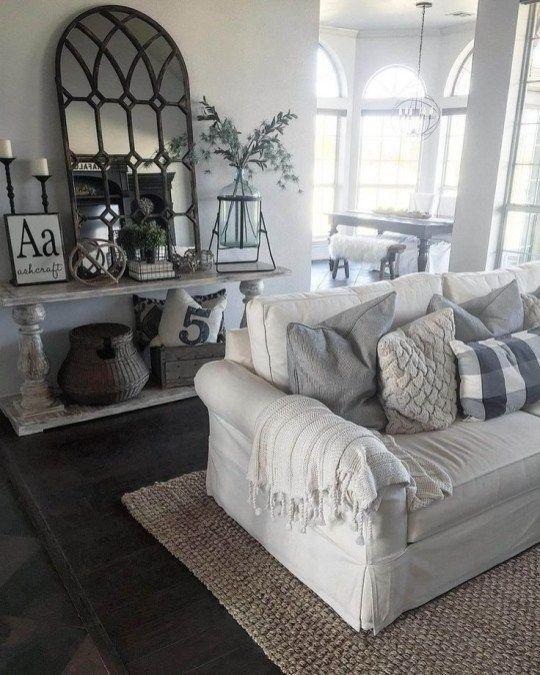 Smart Farmhouse Living Room Design Ideas46