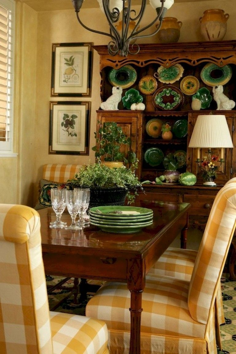 Wonderful French Country Dining Room Table Decor Ideas03