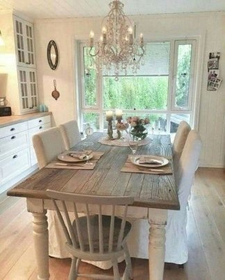 Wonderful French Country Dining Room Table Decor Ideas05