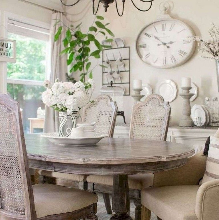 Wonderful French Country Dining Room Table Decor Ideas09