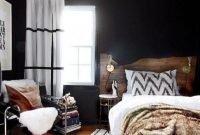 Amazing Black Bedroom Design Ideas For Home43