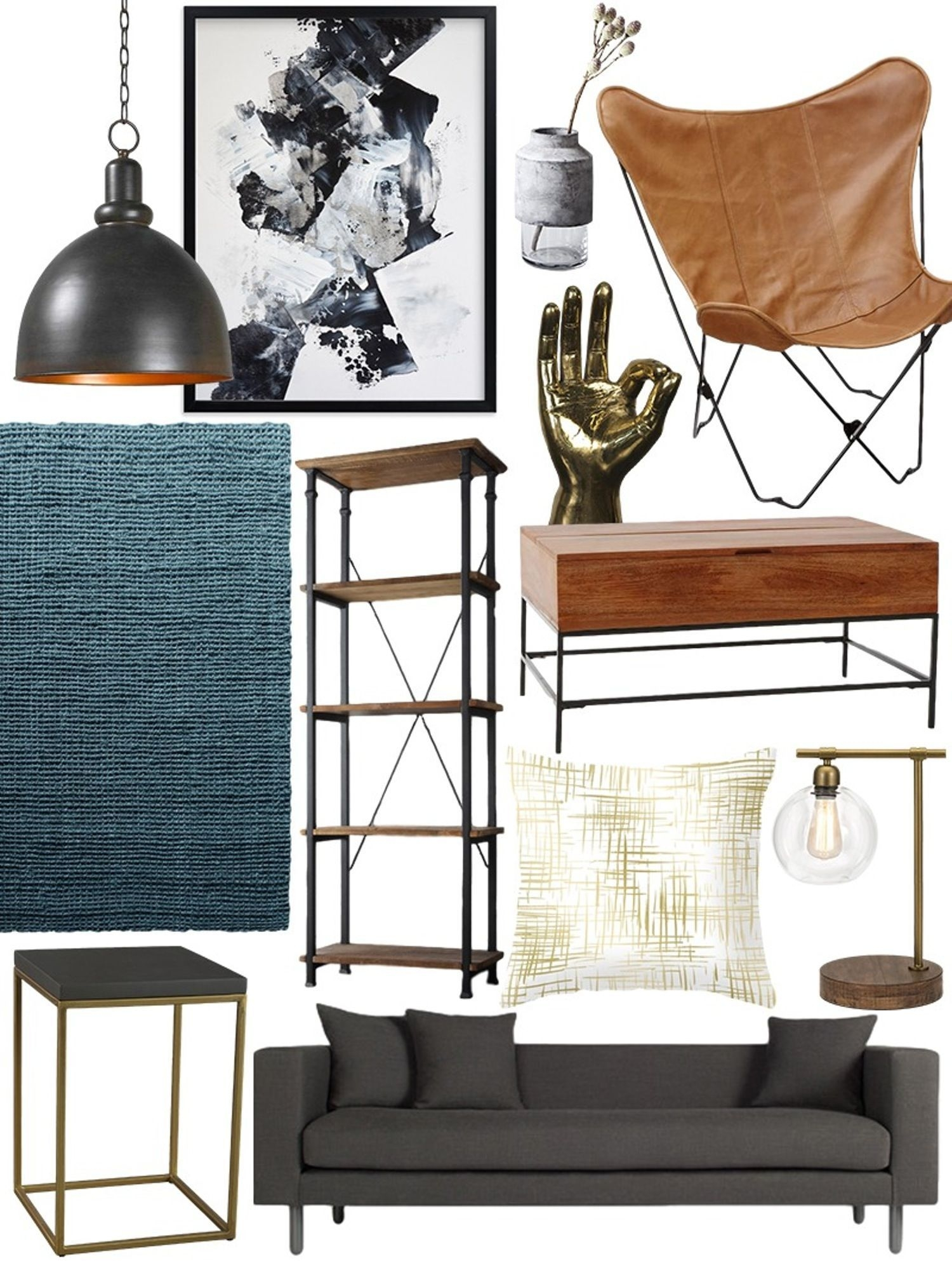 Creative Industrial Living Room Designs Ideas10