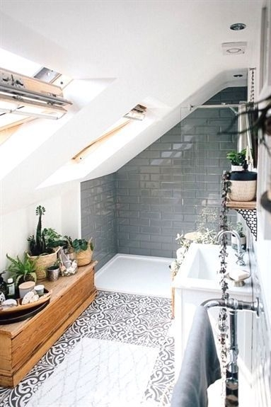 Fascinating Small Attic Bathroom Design Ideas12