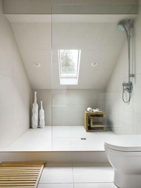 Fascinating Small Attic Bathroom Design Ideas14