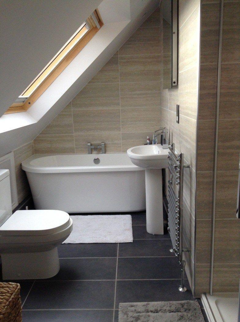 Fascinating Small Attic Bathroom Design Ideas22