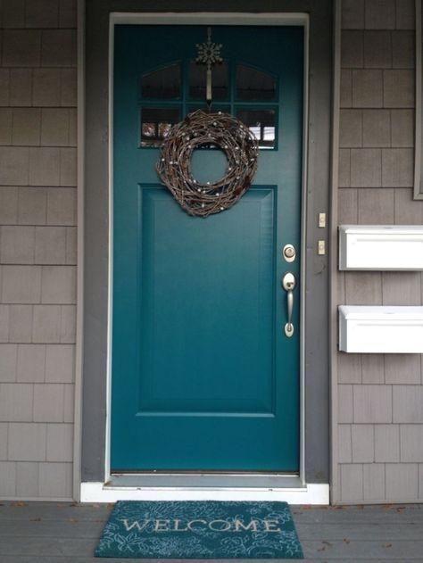 Perfect Painted Exterior Door Ideas18