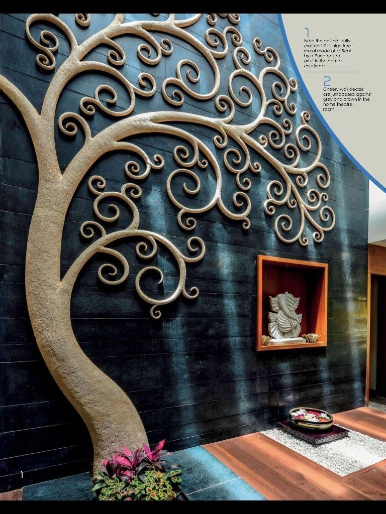 Unique Wall Tiles Design Ideas For Living Room20