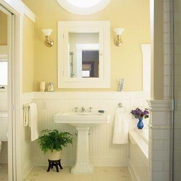 Wonderful Yellow And White Bathroom Ideas18