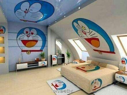 Impressive Kids Bedroom Ideas With Doraemon Themes25