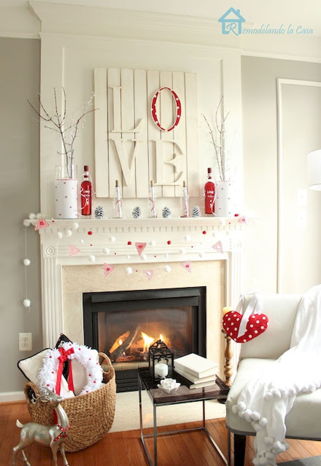 Beautiful Home Interior Design Ideas With The Concept Of Valentines Day33