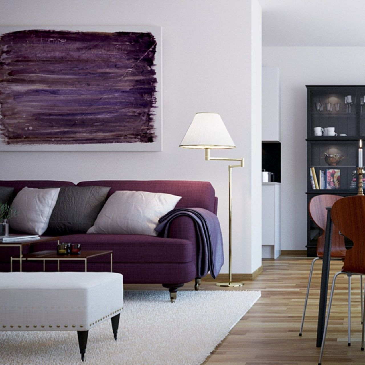 Modern Living Room Ideas With Purple Color Schemes07