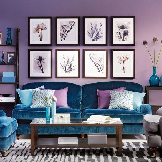 Modern Living Room Ideas With Purple Color Schemes09