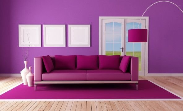 Modern Living Room Ideas With Purple Color Schemes34