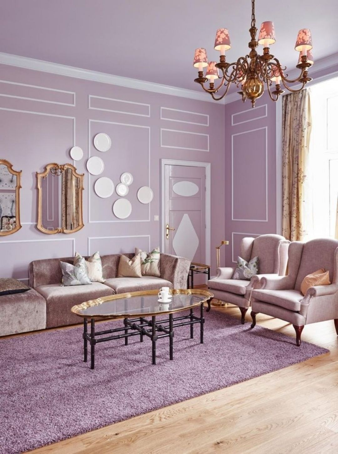 Modern Living Room Ideas With Purple Color Schemes37