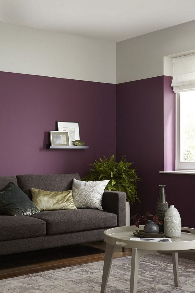 Modern Living Room Ideas With Purple Color Schemes44