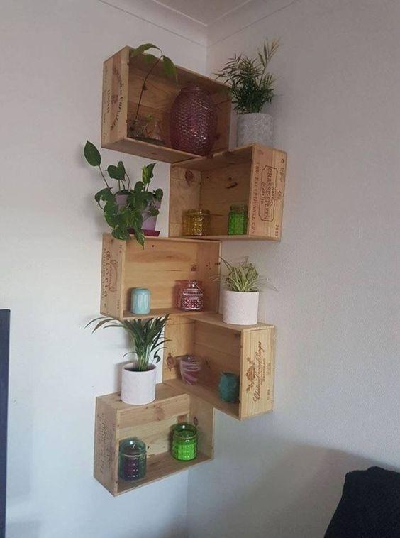 Newest Corner Shelves Design Ideas For Home Decor Looks Beautiful28