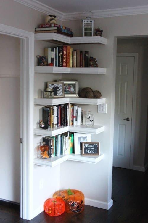 Newest Corner Shelves Design Ideas For Home Decor Looks Beautiful30