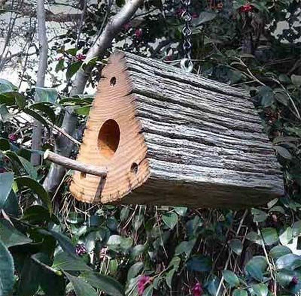 Elegant Bird House Ideas For Your Backyard Space03