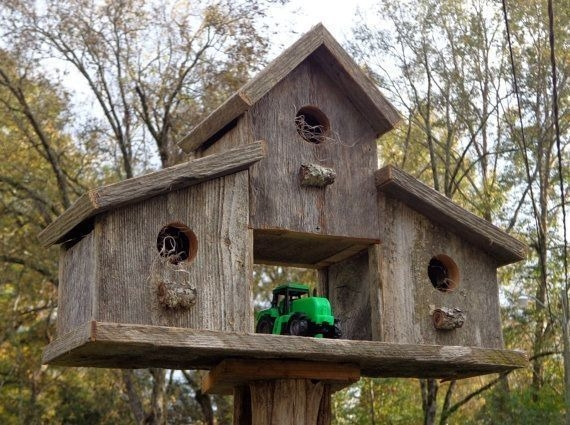 Magnificient Stand Bird House Ideas For Garden40