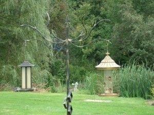 Magnificient Stand Bird House Ideas For Garden42