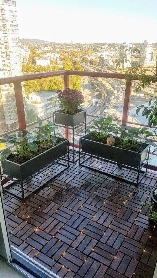 Popular Small Apartment Balcony Decor Ideas For You38