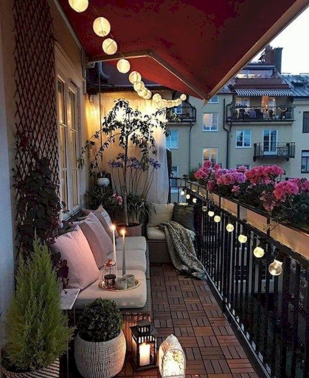 Popular Small Apartment Balcony Decor Ideas For You45