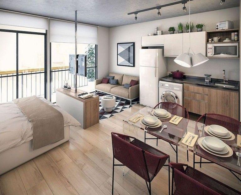 Splendid Studio Apartment Decorating Ideas That Looks Cool25